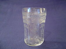 FEDERAL GLASS TUMBLER PATRICIAN SPOKE CLEAR 9 OZ 4 1/4""