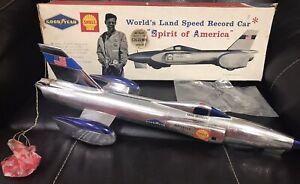 """RARE, Vintage HTF 1964 Wen-Mac """"Spirit of America"""" Land Speed Jet Car 20"""" w/ Box"""