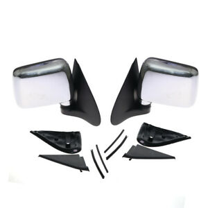 Fit 88–02 Isuzu Faster Pickup Chevrolet LUV TF TFR KB42 Chrome Side Door Mirrors