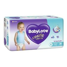 Babylove Unisex Cosifit Toddler Nappy 9-14 Kg Size 4 34 pack