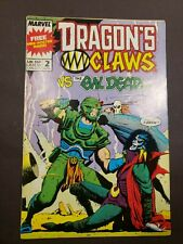Dragon's Claws #2 (Marvel Uk 1988) Vs. Evil Dead Ungraded 7.5