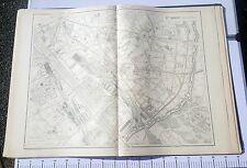 Paris XII ème - Selves Préfet Très Rare Plan de 1905 au 1/5000 (66,5 x 93 cm)