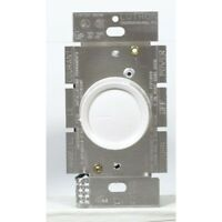 Lutron Electronics Single Pole Push Rotary Dimmer, 600W, White/Ivory