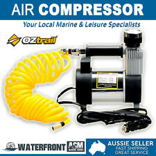 OZtrail Gibson Air Compressor 12v Portable 4wd Car Tyre Pressure Inflator 45l