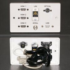 PIASTRA MURO AV, 3x HDMI/AUDIO OTTICO/Antenna TV/Cat6 USB Rete & Sockets