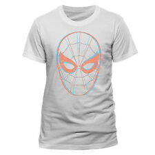 Spiderman Mens T-shirt Top Licensed Merchandise Face M