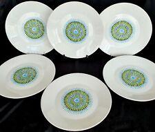 Vintage J & G MEAKIN STUDIO Aztec Breakfast or Lunch Plate x 6 1960's Retro Mod
