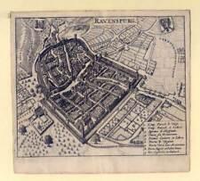 Ravensburg - Kupferstich Zeiller 1655 Selten!