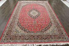 Traditional Vintage Persian Wool  6.7 X 9.8 Oriental Rug Handmade Carpet Rugs