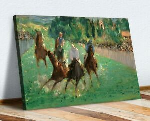CANVAS WALL ART  PAINTING PRINT ARTWORK Edouard Manet At the Races horse Racing