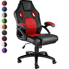 Silla Gaming Ergonómica Ordenador PC Ejecutiva Asiento Deportivo PVC Ruedas