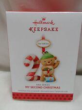 2013 Hallmark Keepsake Ornament My Second Christmas Age Series 2014 15 16 17 18