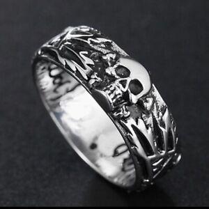 Biker-Ring, Sammler-Ring, Totenkopf, WWII, Rocker, Gothic, Punk, Harley