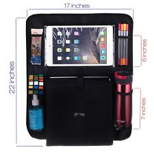 Luxury Car Back Seat Organizer and Protector 10.1 Tablet Holder - Touch Screen