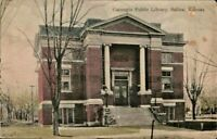 Antique Postcard CARNEGIE PUBLIC LIBRARY Salina KS  p.1909 Germany