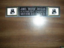"""JAMES """"BUSTER"""" DOUGLAS (BOXING) NAMEPLATE FOR SIGNED GLOVES/TRUNKS/PHOTO DISPLAY"""