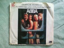 ABBA - KNOWING ME,KNOWING YOU/HAPPY HAWAII 45 RPM  1977 W/COVER