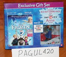 Disney Frozen (Blu-Ray, DVD, Digital HD Copy) Infinity Anna Figure, New Sealed