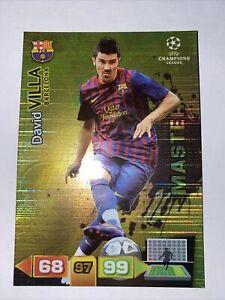 Panini Adrenalyn Xl Champions League 2011/2012 VILLA BARCELONA MASTER Card