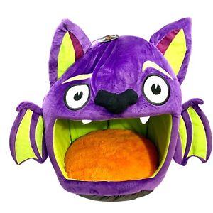 Thrills & Chills Halloween Spooky Bat Dracula Pet Bed Hut Small Dog Cat Purple👇