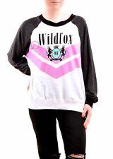 Wildfox Women's New Kim's WF Academy Jumper Multi Color Size M RRP £109 BCF76