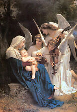 Old Masters Reprint The Virgin with Angels 1881 William  Bouguereau  (v3)