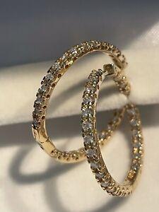 Sonia Bitton 14Kt YG Diamond Earrings -1CT!