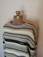 Enyce Striped Sweater Long Sleeve Mens XL Crew Neck Gray