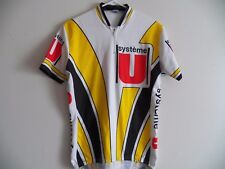 RARE VINTAGE 80s SYSTEME U CYCLING JERSEY MADE IN SPAIN TOUR DE FRANCE SIZE 6