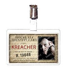 Harry Potter Kreacher House Elf ID Badge Cosplay Prop Costume Comic Con