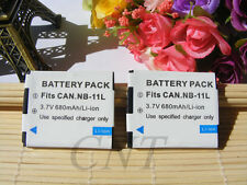 2 NB-11LH Battery for Canon Elph 160 is, Elph 170, Elph 180, Elph 190, Elph 320