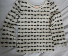 Halloween Kids Shirt Penny Candy Cream with Black Spiders w/Sparkles sz 4 NWT