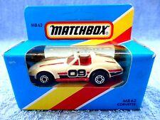 MATCHBOX 1981  MB 62  CORVETTE [WHITE 09] MADE IN MACAU UNOPENED