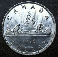 OLD CANADIAN COIN 1946 - $1 DOLLAR - .800 SILVER - George VI- HIGH GRADE- LUSTRE