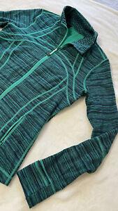 Lululemon Women's Define Jacket Long sleeve 10 Heathered Green Color Yoga