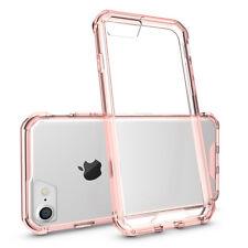 A prueba de choques blindaje claro funda de teléfono para iPhone 8 Cubierta posterior transparente 7 6 Plus