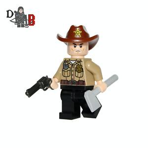The Walking Dead Rick Grimes Minifigure. Made using LEGO & custom parts.