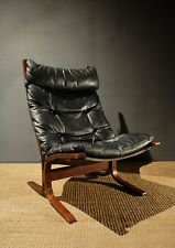 Siesta Bentwood Leather Lounge Chair Vintage Retro