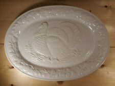 """Gibson Turkey Platter - Approx 18-1/2"""" x 13-1/2"""" Oval - White"""