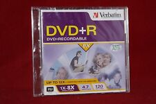 1 Pack, Verbatim DVD+R 4.7GB 1x-8x (up to 12x), Super AZO.