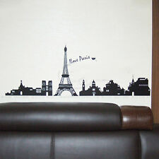 Paris Eiffel Living Room Home Tower Bedroom Decor Vinyl Decal Wall Stickers