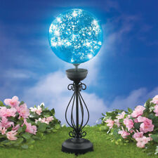 Yard Solar Lighted Stake Outdoor Gazing Ball Decoration Garden Lawn Ornaments