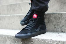 VANS SK8 HI BLACK BLACK Suede pre-owned good condition