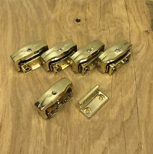 Qty 5 - Yale Home Security Brass Finish Wooden Casement Toggle Locks P113
