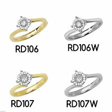 Cluster Good Cut I1 Fine Diamond Rings