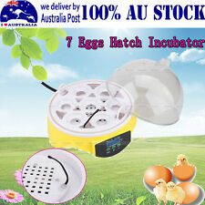 Digital Nonautomat 7 Eggs Capacity Chicken Duck Bird Hatch Incubator Tool Kit MQ