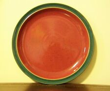 Denby Harlequin Dinner Plate Red/Green Stoneware England Vintage