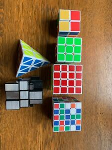 Speed Cube Set - 2x2, 3x3, 4x4, 5x5, Pyraminx, Mirror Cube