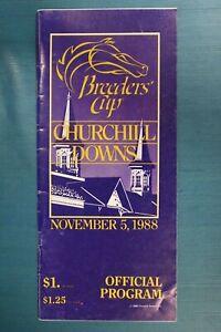 5th Breeder's Cup-Churchill Downs Program November 5, 1988-Winner-Alysheba