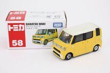 NEW Takara Tomy Tomica #58 Daihatsu Wake Yellow Scale 1/56 Diecast Toy Car